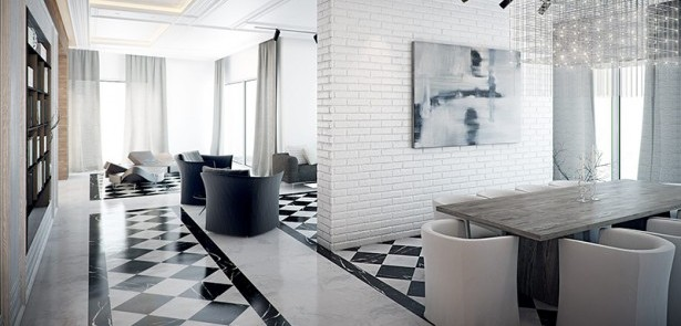 Creative Ways to Use Black and White Tiles!